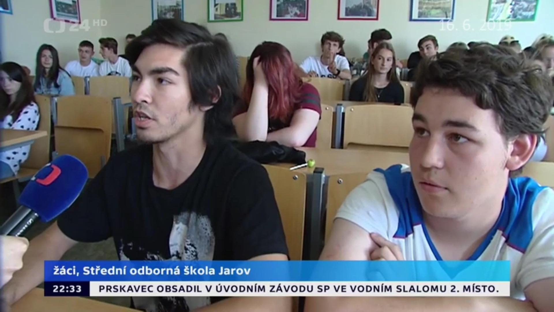 ČT24 na Jarově 16. 6. 2019